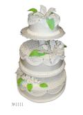 Свадебные торты с отделкой сливками