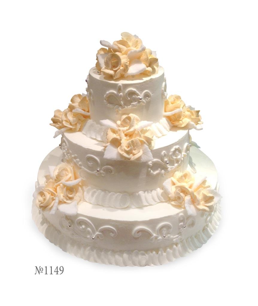 Трехэтажный бисквитный торт фото 3